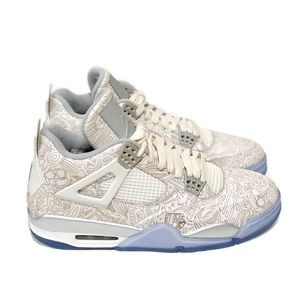 Worn Air Jordan 4 Retro Laser White 705333 105